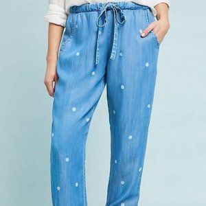 Cloth & Stone Blue Dotted Tencel Jogger Pants S